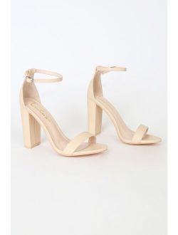 Taylor Naked Vanilla Ankle Strap Heels