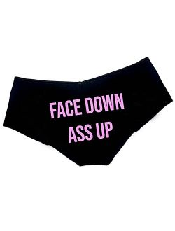 FACE DOWN ASS UP Fun Womens Funny Underwear Hipster Panty