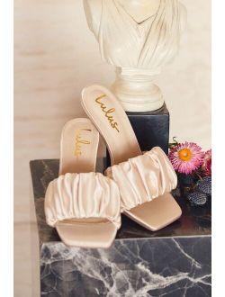 Reecey Ivory Satin High Heel Sandals