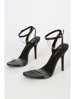 Eisley Black Ankle Strap Heels