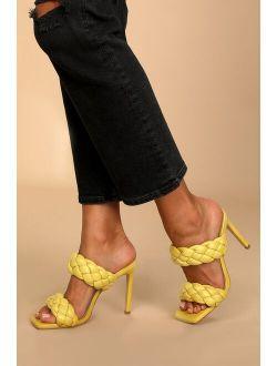 Kenley Citron Braided High Heel Sandals