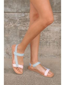 Seychelles Intricate Pastel Multi Leather Strappy Sandals