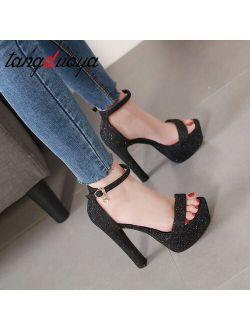 New Summer Sexy Women High Heels Sandals Fashion Stripper Shoes Party Pumps Women platform sandals open toe high heels 14 cm