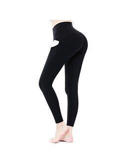 Sportneer Women Yoga Pants Tummy Control Leggings Workout Leggings for Butt Lifting High Waist Leggings Black