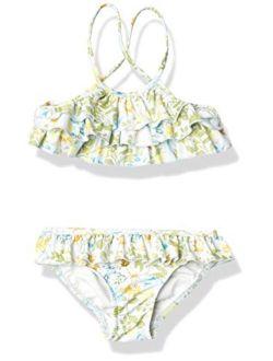 Girls' Frill Front Tankini Swimsuit Set