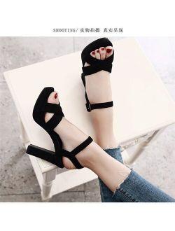Thin High Heels Sandals Footwear Peep toe Ankle Strap Gladiator Sandals Platform Female Wedding Sexy Shoes Women Party Ev