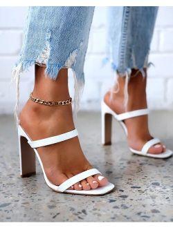 Brand Women Summer Outdoor Sandal High Square Heel Flip Flop Ladies Women Slipper Elegant Women Slides Shoes