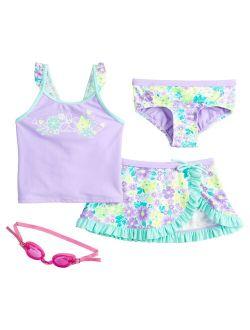 Girls 4-6x ZeroXposur Prairie Perfect Tankini, Bottoms & Cover-Up Skirt Swimsuit Set