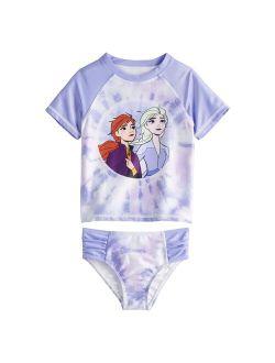 Toddler Girl Disney's Frozen 2-Piece Rashguard Swimsuit
