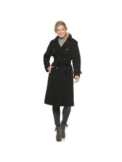 Womens TOWER BY LONDON FOG Double Breasted Trench