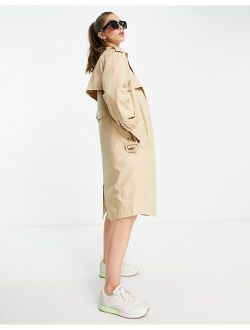 Y.A.S belted trench coat in beige