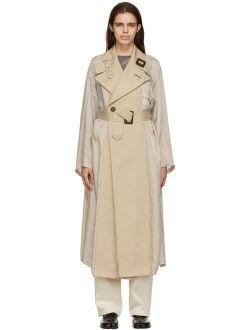 Maison Margiela Beige Belted Trench Coat