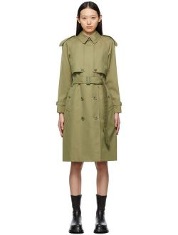 Burberry Green Gabardine Wacton Trench Coat