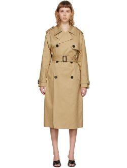 Beige Gabardine Trench Coat