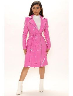 Electric Feelings Trench Coat - Pink