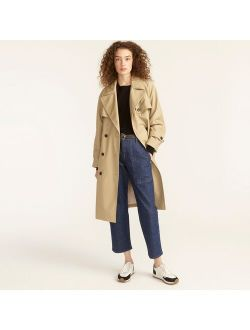 Relaxed trench coat in cotton-canvas