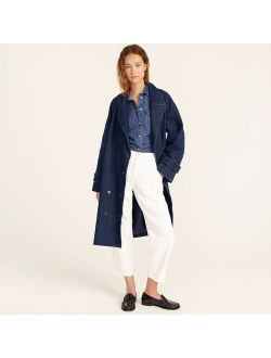 Relaxed trench coat in denim
