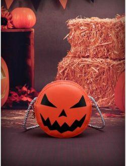 Halloween Kids Pumpkin Graphic Crossbody Bag