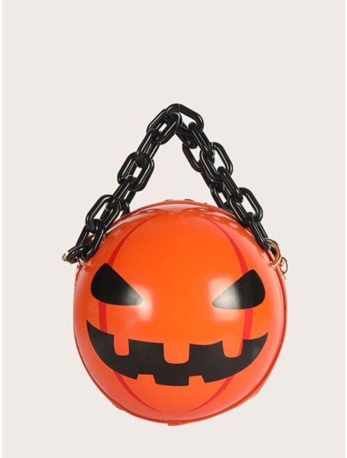 Shein Halloween Men 3D Pumpkin Design Crossbody Bag