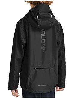 BALEAF Boys' Waterproof Rain Jacket Kids Youth Lightweight Windbreakers Girl Cycling Raincoat Outdoor Hooded