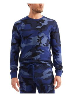 Men's Waffle Knit Camo Sleep Shirt