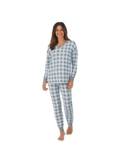 Women's Cuddl Duds® Sweater Knit V-Neck Pajama Top and Banded Bottom Pajama Pants