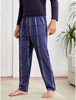 Men Plaid Print Sleep Pants