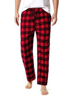 Men Tartan Print Drawstring Waist Pajama Pants