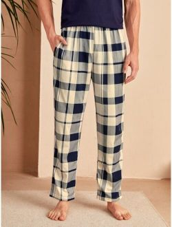 Men Plaid Pajama Pants