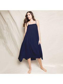 Petite Plume™ women's gauze serene nightdress in navy