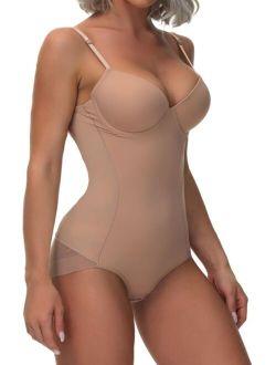 Solid Underwire Shapewear Bodysuit