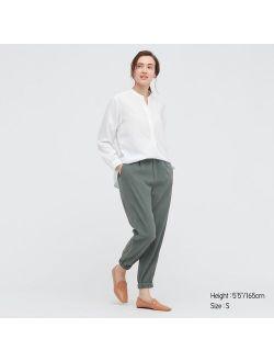 WOMEN DRAPE JOGGER PANTS