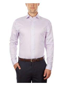 Men's Supima Cotton Slim Fit Non-Iron Performance Stretch Dress Shirt