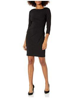Women's Three Quarter Sleeve Starburst Sheath Dress