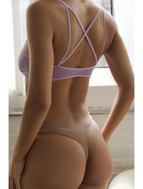 Urban outfitters Markie Seamless Ribbed Thong