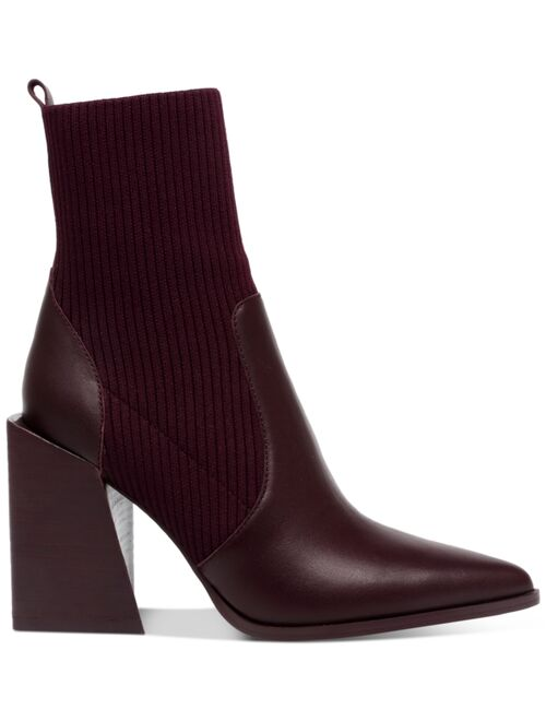 Steve Madden Women's Tackle Block-Heel Knit Sock Booties