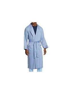 Mens Long-sleeve Lightweight Cotton Woven-robe