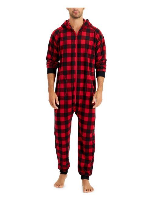 Family Pajamas Matching Men's 1-Pc. Red Check Printed Family Pajamas