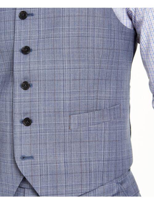 Polo Ralph Lauren Men's Classic-Fit UltraFlex Stretch Light Blue Plaid Suit Vest