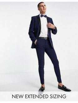 super skinny tuxedo in navy suit jacket