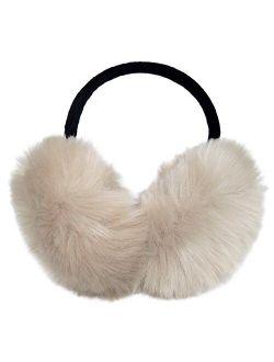 Womens Faux Rabbit Fur Earmuffs Winter Outdoor Ear Warmers Girls Earmuffs,Foldable