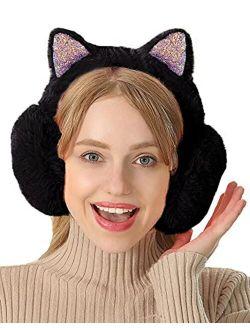 Lovful Women's Winter Warm Earmuffs Headband Adorable Cat Ears Earwarmer