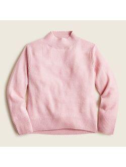 Girls' cashmere mockneck sweater