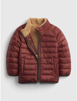 Toddler 100% Recycled Nylon Reversible Sherpa Jacket