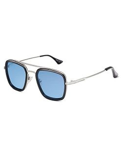 Polarized Sunglasses For Men Women Retro Aviator Square Goggle Classic Alloy Frame Hero Sj1126