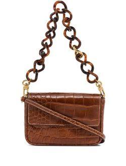 mini Tommy Chain crocodile-embossed bag