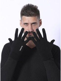 Men Knit Gloves