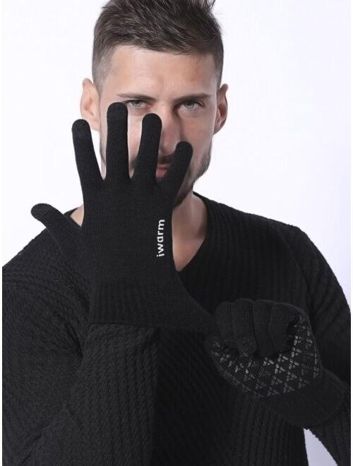 Shein Men Knit Gloves