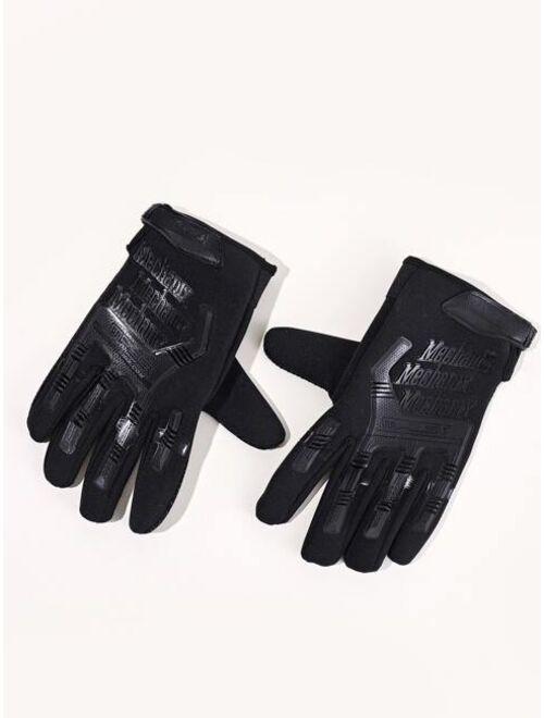 Shein Men Letter Graphic Gloves