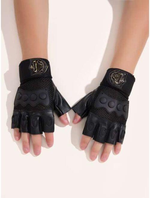 Shein Men Fingerless Gloves